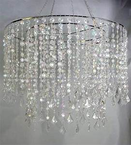 Large Acrylic Crystal Diamond Cut Wedding CHANDELIER