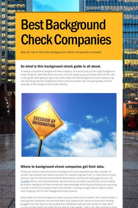 background check companies background check