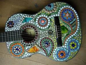 Mosaik Selber Machen : mosaik gitarre hippie von mosaikhandwerk auf mosaik pinterest hippie style ~ Orissabook.com Haus und Dekorationen