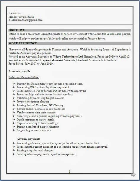 Experienced Accountant Resume by Resume Templates