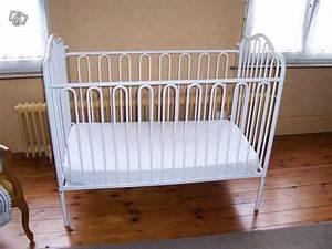 Lit En Fer Forgé Blanc : lit bebe fer lit en fer forge blanc ~ Teatrodelosmanantiales.com Idées de Décoration
