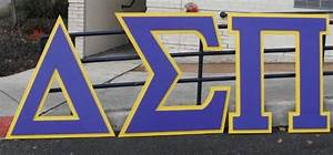 4 ft delta sigma pi greek fraternity letters made by With 6 foot greek letters