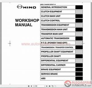 Hino 238  258lp  268  338 Series Workshop Manuals