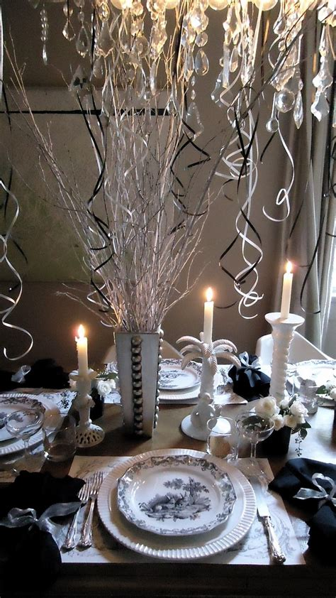 festive new year s table decoration tablescapes