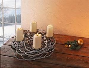 Deko Weihnachten Adventskranz : adventskranz tannenzapfen windlicht kerzenhalter adventsbogen weihnachten deko kaufen bei ~ Sanjose-hotels-ca.com Haus und Dekorationen