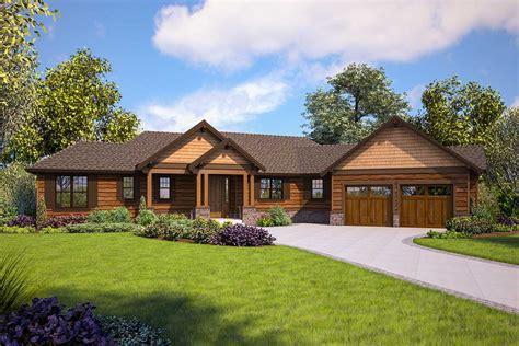 split bedroom craftsman house plan  walkout basement  architectural designs house