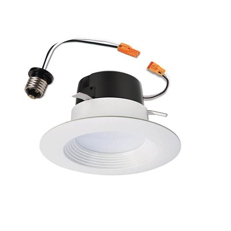 led lighting in kitchen halo lt 4 in white integrated led recessed ceiling light 6930