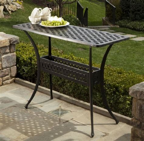 alfresco home cast aluminum outdoor sideboard console