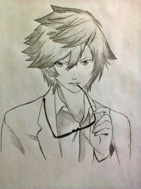 anime cool boy drawing anime boy cool drawing pencil drawing sketch galery