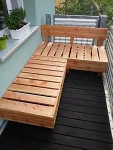sitzbank balkon selber bauen bank balkon selber bauen