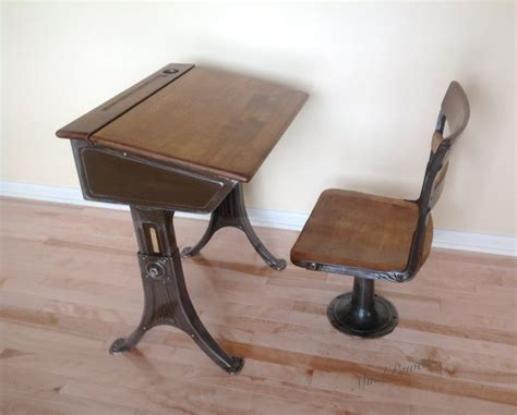 vintage school desk and chair vintage school desk and chair heywood eclipse 1920s by