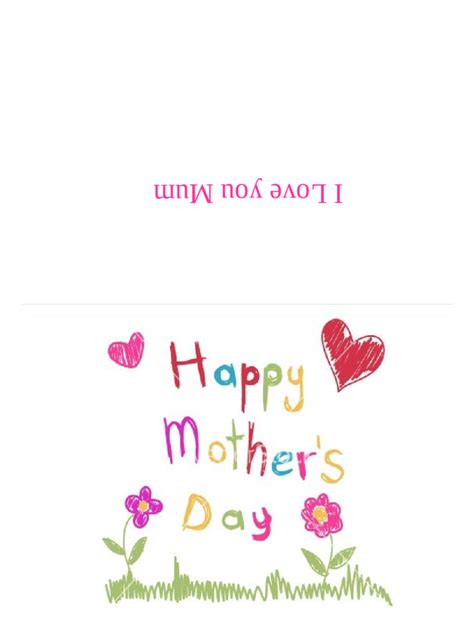 mothers day card templates   templates