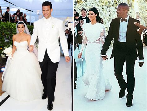 Kim Kardashian Wedding Dresses To Kanye West, Kris