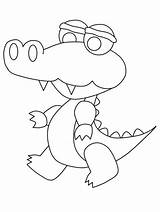 Coloring Alligator Printable Preschool Colouring Clip Clipart Apollinaire Leanna Library Popular Counting Templates Template sketch template