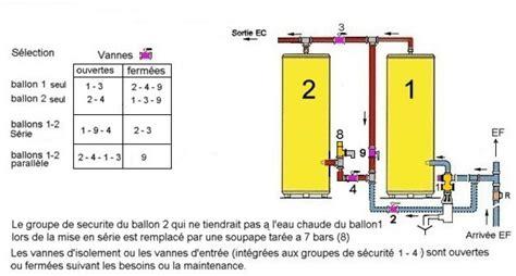 montage ballon eau chaude montage de 2 ballons d eau chaude dont un secours 14