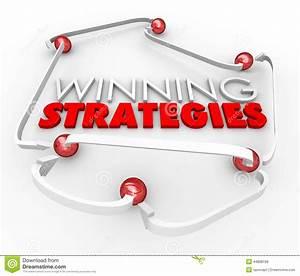 Winning Strategies Game Plan Arrows Diagram Good Process