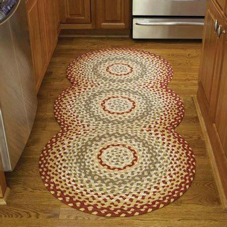 mill village braided rug runner  park designs