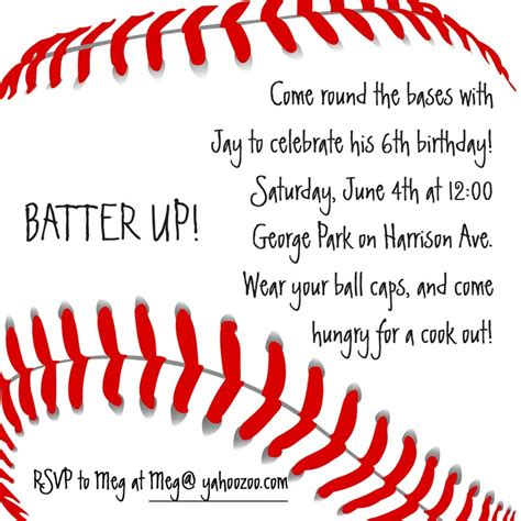baseball invitation baseball invitation birthday by cardsdirect