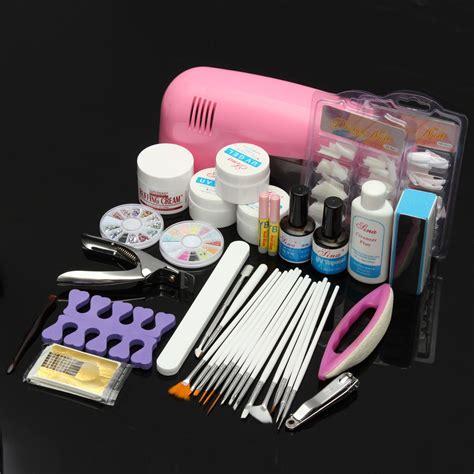 gel nail light kit acrylic powder nail kit uv gel uv l manicure diy