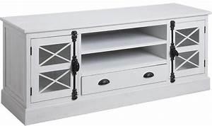 Meuble Tv En Hauteur : meuble tv en pin campagne chic ~ Teatrodelosmanantiales.com Idées de Décoration