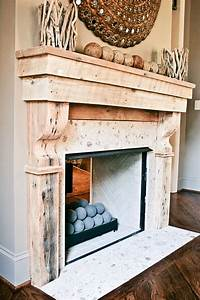 hand crafted reclaimed wood mantle by kidd epps art shop With barnwood mantle