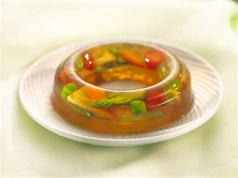 aspic cuisine vegetables in aspic consomme veggies and