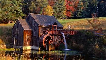Vermont Mill Watermill Grist Molino Agua Wallpapers