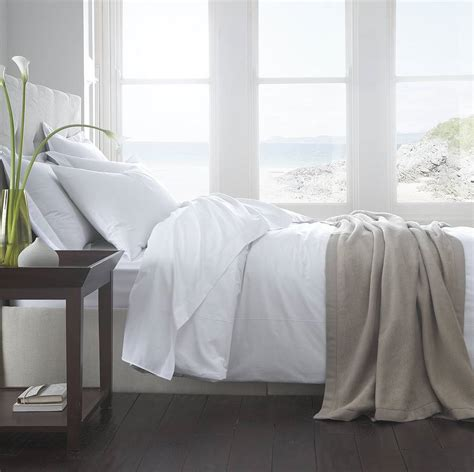 vermont white organic cotton 200 tc percale bed linen by the fine cotton company