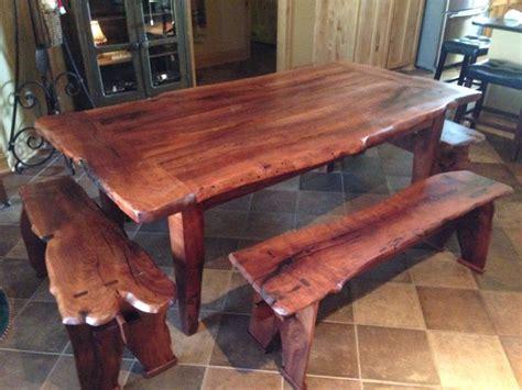 mesquite  edge table  benches   single