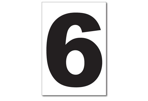 Vinyl Numbers, Number 6 Sticker
