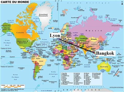 Thailande Carte Geographique Monde by Bangkok Carte Du Monde Popkensburg