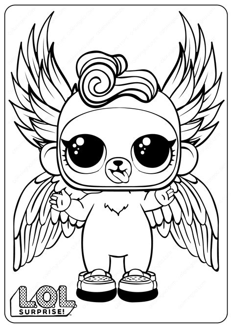 printable lol surprise monkey coloring pages