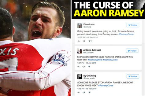 aaron ramsey scores against tottenham will the curse strike again daily