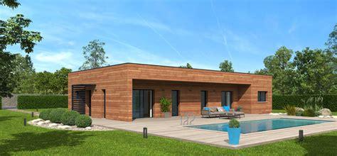 plan maison bois mod 232 le natimamba toit terrasse natilia
