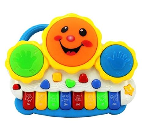 SahiBUY Drum Keyboard Musical Toys with Flashing Lights ...