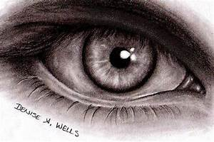 Scary Evil Eyes | Realistic Eye drawing by Denise A. Wells ...