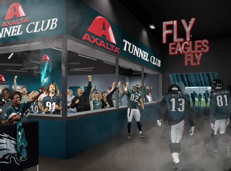philadelphia eagles add tunnel club  lincoln financial