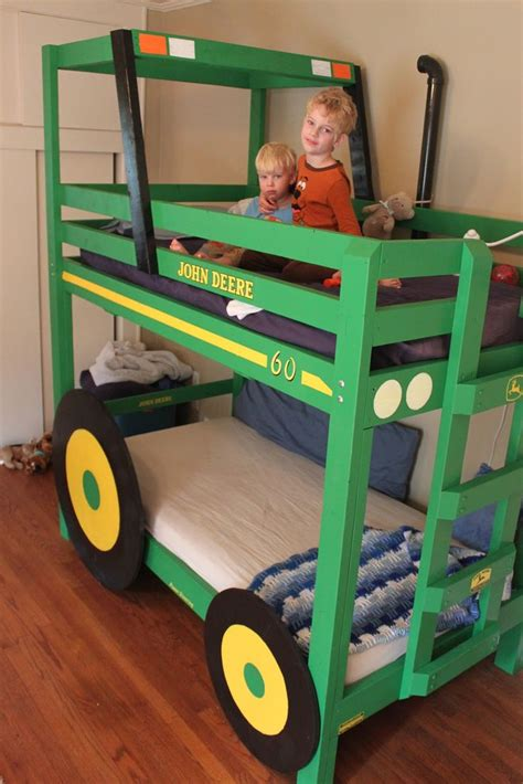 deere bunk beds how to build your own tractor themed bunk bed creative