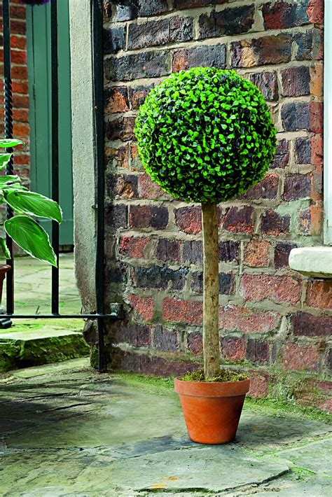 80cm Artificial Boxwood Topiary Ball Tree By Gardman £4999