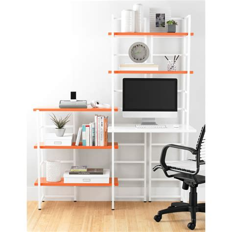 desk add on shelf white connections extended desk shelf the container store