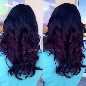 black to purple balayage - Google Search | hair ...