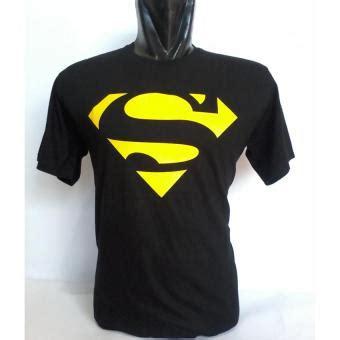 kaos distro oblong hitam d0005y logo superman lazada indonesia