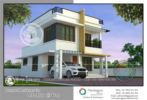 1436 Sq Ft , Double Floor Home Plan, 3 Cent Plot
