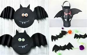 Gruselige Bastelideen Zu Halloween : fledermaus basteln zu halloween aus papier und filz mit ~ Lizthompson.info Haus und Dekorationen