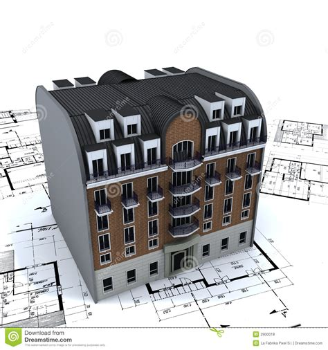 House Construction Plans by Residential Building On Plans Royalty Free Stock Photos