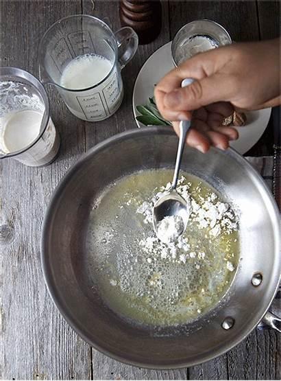 Sauce Squash Butternut Bechamel Cannelloni Sage Walnut