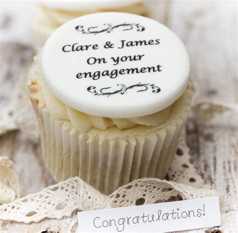 personalised engagement cupcake toppers   bake
