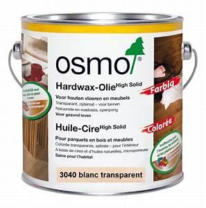 huile cire coloree blanche 3040 075l l39ame du bois With huile blanche pour parquet