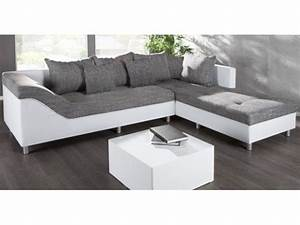 canape d39angle droit sultan blanc gris With canape d angle droit gris et blanc
