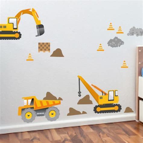 Xl Wandtattoo Kinderzimmer by Wandsticker Set Xl Baumaschinen